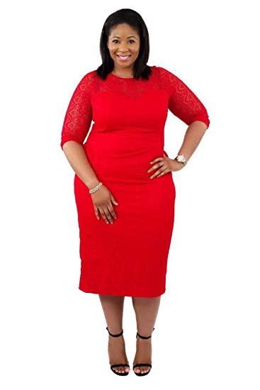 847f898948f Scarlett   Jo Tall Bodycon Lace Dress Plus Size Curvy  Gifi Fields   Amazon.co.uk  Clothing