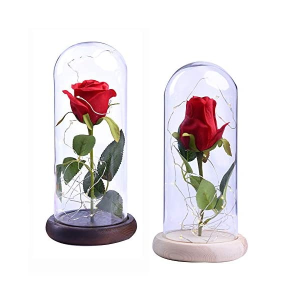 Yinrunx-Rose-and-LED-Light-in-a-Glass-Dome-for-Valentines-Gifts-Wedding-Anniversary-Birthday