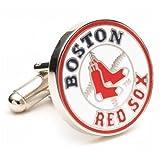 Boston Red Sox Silver Cuff Links
