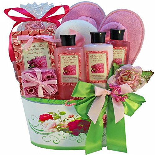 So Serene Peony Spa Bath and Body Gift Basket Set (Gift Basket Ideas For Auctions)