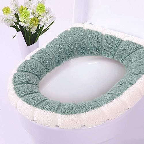 Yuzhijie Tweekleurige tweekleurige pompoen thermische schattige badkamer heupstoel toilet deksel gewone ademend, 4
