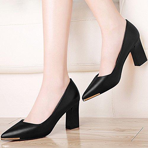 lavoro scarpe five Thirty four pelle New con a con match all khskx punta Thirty Zichao scarpe tacco spessore the da pUqPvnwxT4