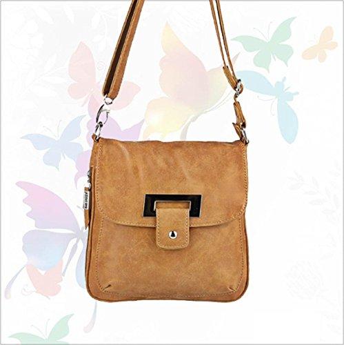 para Bolso Bag Street marrón sintético de coñac cuero al hombro mujer aTTOnZqU