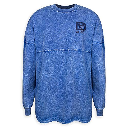 (Disney Walt Disney World Mineral Wash Spirit Jersey for Adults - Blue (Small))