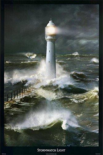 Stormwatch Light Lighthouse Art Print Poster