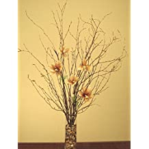 Green Floral Crafts Natural Birch Branches & Star Liilies Combo Pack (Vase Not Included)