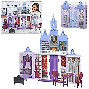 Disney Frozen Fold and Go Arendelle Castle Playset Inspired 2 Movie, Portable Play – Toy for Kids Ages 3 and up