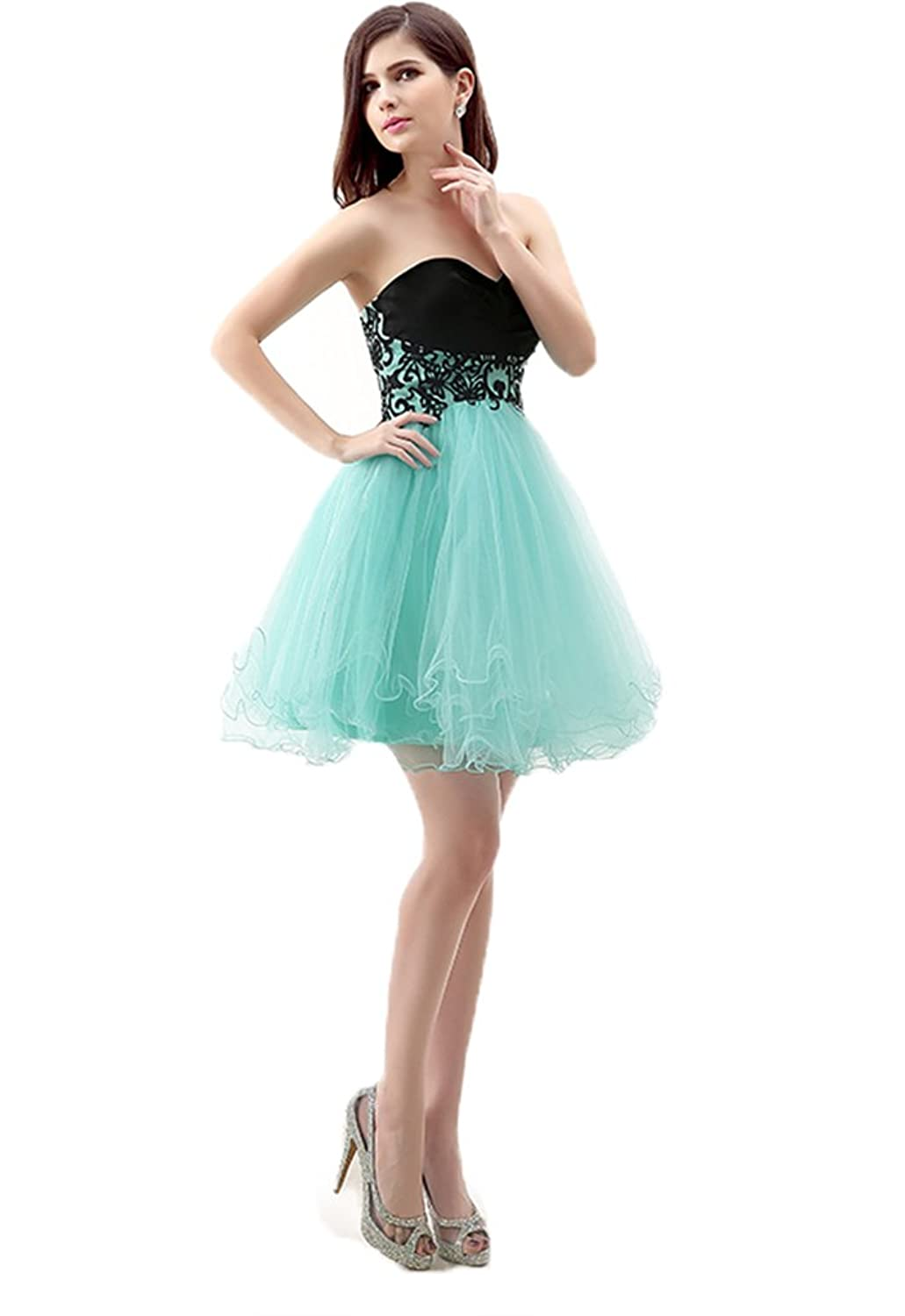 Anna's Bridal Women's Organza Short Homecoming Dresses Prom Gowns