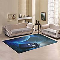 Unique Debora Custom Multicolor Rectangle Area Rug Floor Rug Carpets Home Decorate Floor with Magic Tardis Police Box