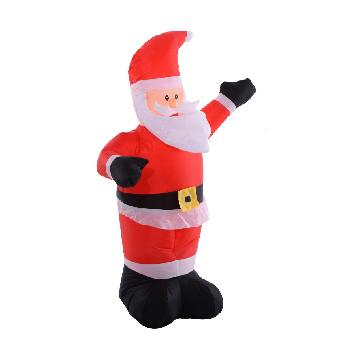 Tangkula 4Ft Airblown Inflatable Christmas Santa Claus Lighted Decor Lawn Yard Outdoor