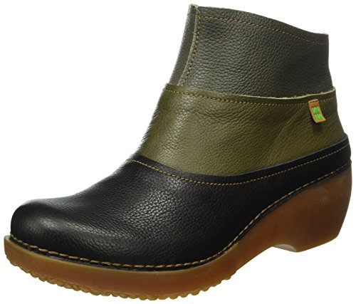 El Naturalista Nc79 Soft Grain Black-Kaki-Grafito/Tricot, Bottes Souples Femme, Multicolore (Black-Kaki-Grafito Nv5), 38 EU
