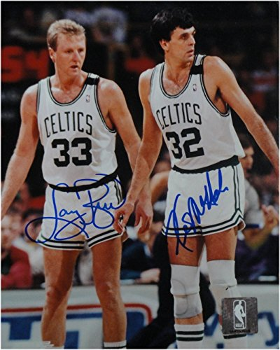 Larry Bird Kevin McHale Dual Signed Autograph 8x10 Photo Celtics Defense JSA