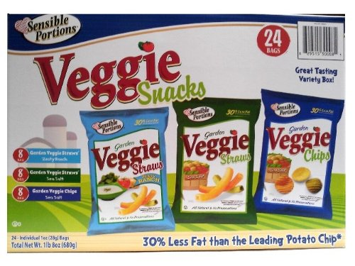 Sensible Portions Veggie Snack, 24-Ounce by Sensible Portions
