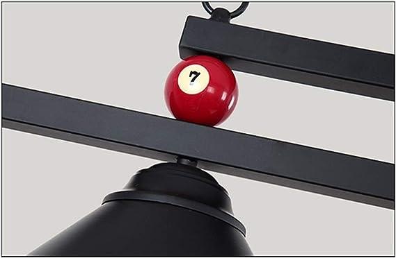 Araña industrial con luces 3 * E27 Adecuada para mesas de billar o isla de cocina, Shadowless, diseño de bola de ...