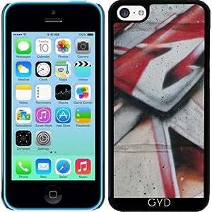 Funda para Iphone 5c - Pintura Gris Roja by LoRo-Design