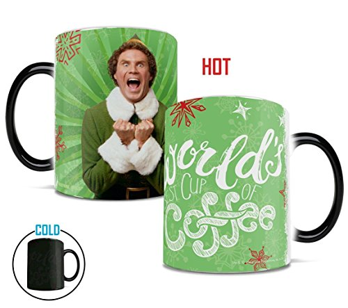 Elf - World's Best Cup of Coffee - Color Changing Heat Reveal Coffee Tea Mug - by Trend Setters Ltd.
