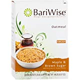 BariWise Low-Carb High Protein Oatmeal/Instant Diet Hot Oatmeals - Maple & Brown Sugar (7 Servings/Box) - Low Carb, Low Calorie, Low Fat, Aspartame Free