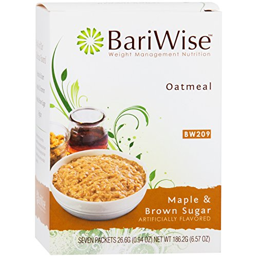 (BariWise Low-Carb High Protein Oatmeal/Instant Diet Hot Oatmeals - Maple & Brown Sugar (7 Servings/Box) - Low Carb, Low Calorie, Low Fat, Aspartame Free)