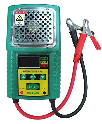 Lead Acid Battery Tester - DI-226A LCD Indication Versatile Lead-Acid Battery Tester with CCA/Work Load/Internal Resistance Test Electric Vehicle Battery/UPS Battery/Solar Energy Battery/Marine Battery/Car Battery