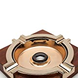 African Wenge Wood with Copper Cigar Ashtray Solid