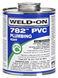 IPS CORPORATION GIDDS-2491134 Weld On 782 Heavy-Bodied PVC Cement, Clear, Quart