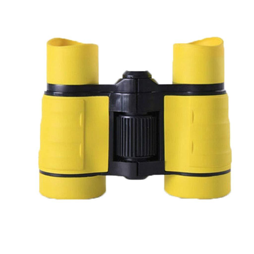 YxlAB Fernglas, Kinder Mini HD 4 × 30 Vogelbeobachtung Konzert Schutz Spielzeug Teleskop (Farbe : Gelb)