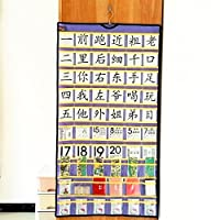 60 Classroom Pocket Chart Pockets Hanging Jewelry Organizer Earrings Holding with Hanger Closet Storage