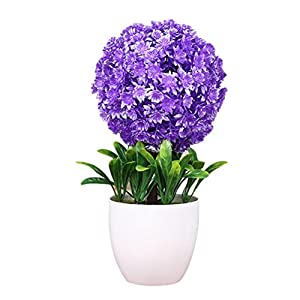 Zhuhaitf Artificial Plants Bonsai Snowball Flower for Home Office Indoor Decor 85