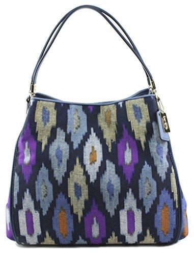 Coach-Madison-Phoebe-Ikat-Print-Canvas-Shoulder-Bag-Style-30803