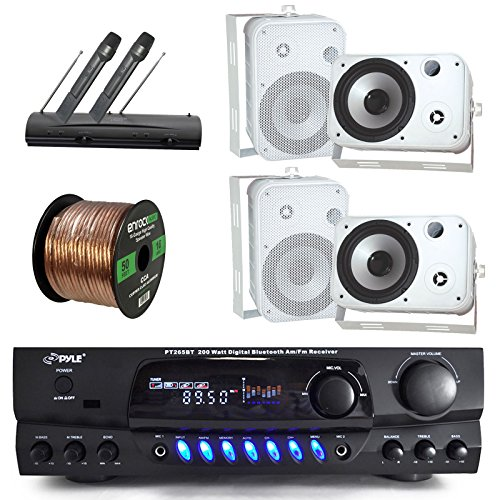 Pyle PT265BT Bluetooth 200 Watt Digital Karakoe Receiver Amp