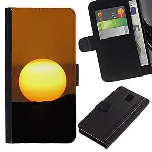 KingStore / Leather Etui en cuir / Samsung Galaxy Note 3 III / Desert Sunset