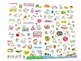 12 Sheets Lovely Carton Cat Transparent