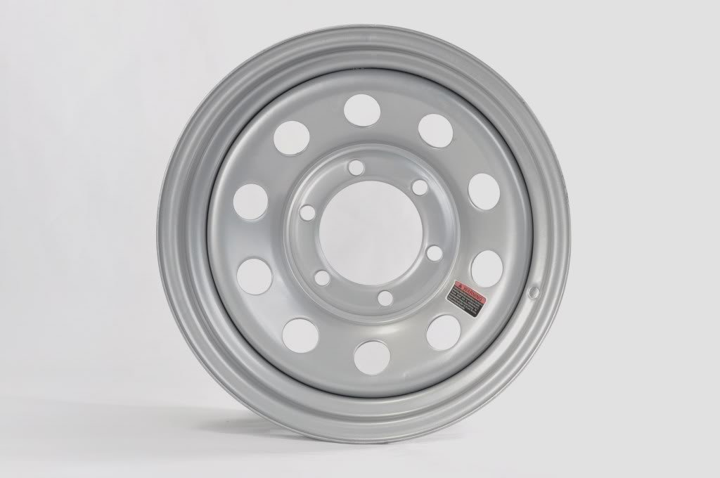 eCustomRim 2-Pack Trailer Rim 15X6 6 Lug On 5.5 in. Center Silver Modular