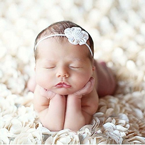 Rose Bean - PePeng Newborn Photography Props, Use Soft 3D Rose Flower Backdrop Beanbag Rug to Create Memorable Kids Portrait Photography (Off - White)