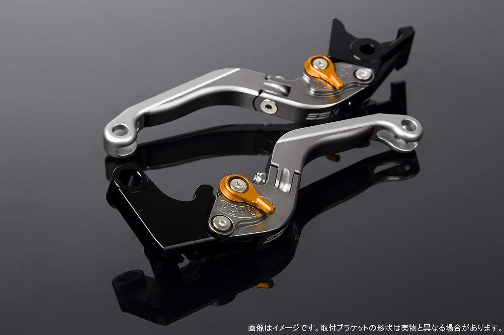 SSK アジャストレバー 可倒延長式 レバー本体カラー:マットチタン アジャスターカラー:マットゴールド エクステンションカラー:マットシルバー LVGM035TM-GDSR B07MX8F85M