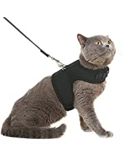 Escape Proof Cat Harness with Leash Adjustable Soft Mesh - Best for Walking