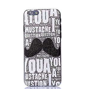 Color Decoration Goatee Plastic Hard Cover for iPhone 6
