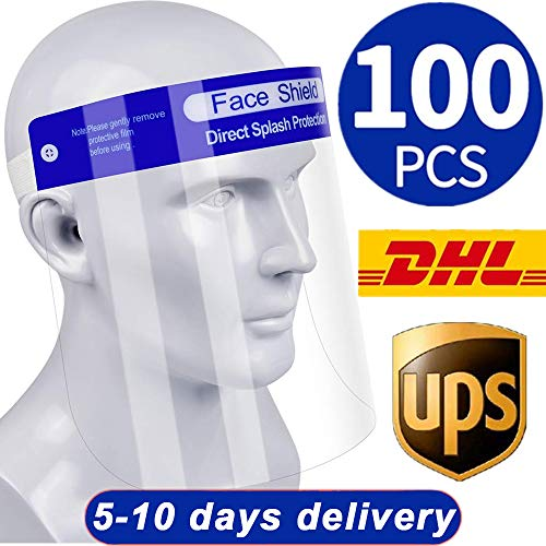 100Pcs Face Shields DoubleSided