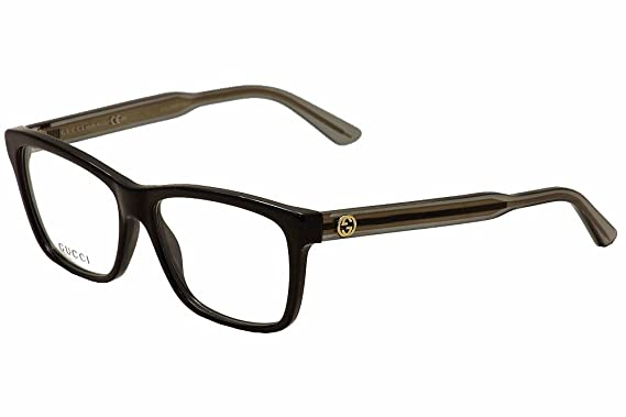 gucci womens optical frame optyl black transparent grey frametransparent lens non polarized
