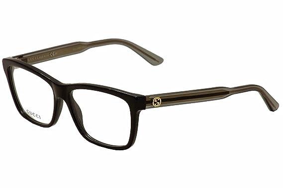 gucci womens optical frame optyl black transparent grey frametransparent lens non polarized
