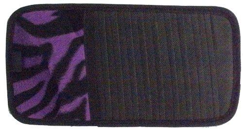 Purple Zebra Animal Print 10 CD/DVD Car Visor Organizer