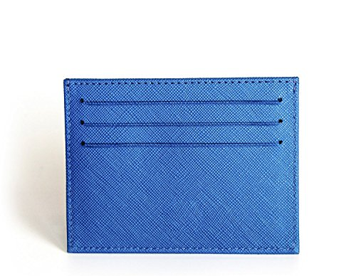 Saffiano front leather from Axess wallet minimalist wallet RFID men's pocket ZO7nrZf