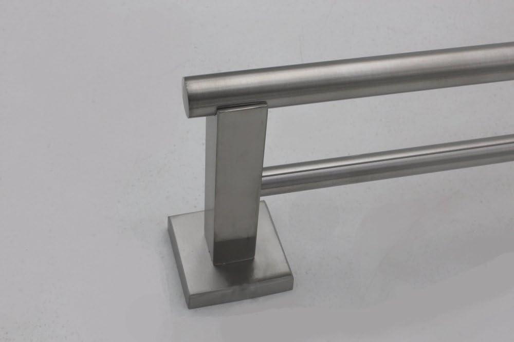 XVL Bathroom Stainless Steel Single Towel Holder Bar,Brushed Steel G206-1