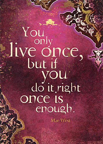 Amazon You Only Live Once Mae West Quote Tree Free Greetings