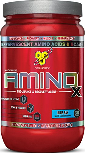 German Post - BSN Amino X Post Workout Muscle Recovery & Endurance Powder with 10 Grams of Amino Acids Per Serving, Flavor: Blue Raz, 30 Servings
