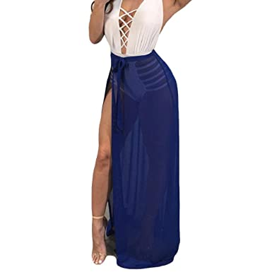 eb1f8acb8c CANDLLY Faldas de Fiesta Mujeres Elegante Playa Faldas Lisas Sexy Faldas  Largas Vestido Hermoso para Chicas