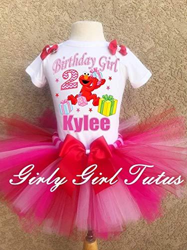 Girls Elmo Birthday Outfit Tutu Set ()