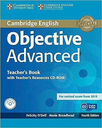 Cambridge Objective Advanced Teachers Book