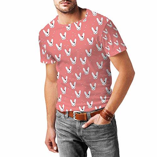 Bunny Bow Peach Mens Sport Mesh T-Shirt Herren XS - 3XL