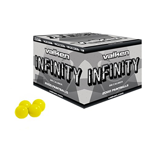 Valken 28148  Infinity Paintballs, Yellow/Yellow, .68 Caliber, 2,000 paintballs